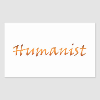 Humanist Gold Rectangle Stickers