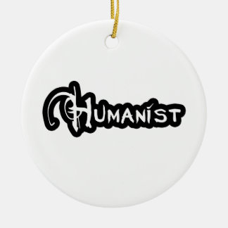 Humanist In Black And White Ceramic Ornament