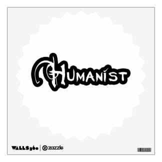Humanist In Black And White Wall Sticker