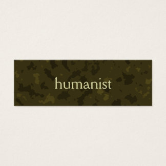 Humanist (olive / moss) mini business card