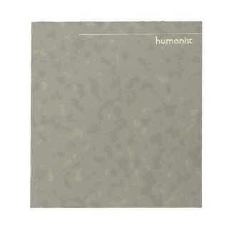 Humanist (olive / moss) memo notepad
