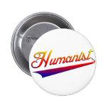 Humanist Orange Swash 2 Inch Round Button