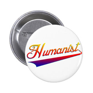 Humanist Orange Swash 2 Inch Round Button