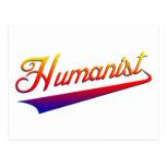 Humanist Orange Swash Postcard