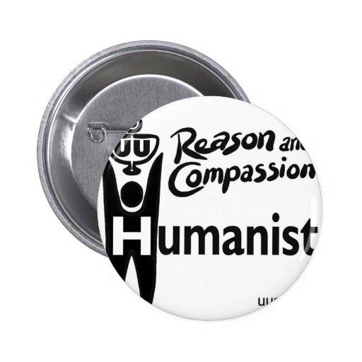 Humanista de UU Pin Redondo De 2 Pulgadas