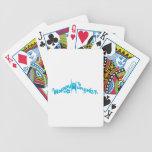 Humanista feliz maravilloso azul baraja de cartas
