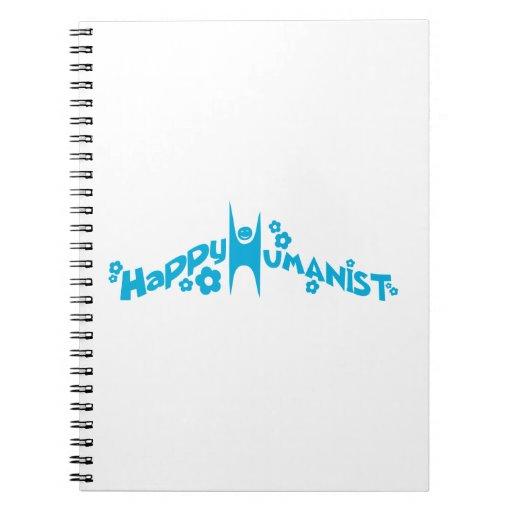 Humanista feliz maravilloso azul libreta