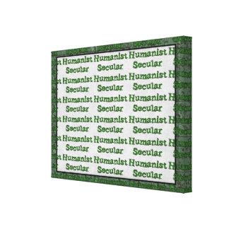 Humanista secular lona estirada galerias