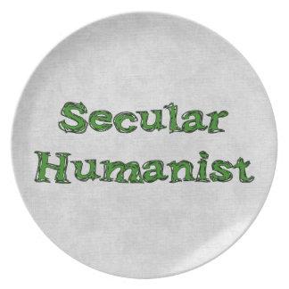 Humanista secular platos de comidas