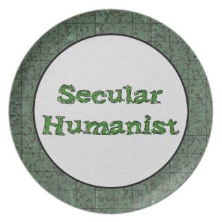 Humanista secular plato de comida