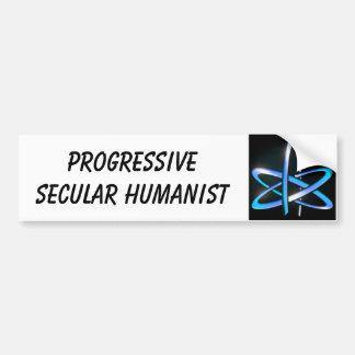 Humanista secular progresivo - azul pegatina de parachoque