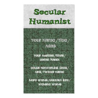 Humanista secular tarjetas de visita