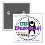 Humanista universalista (UU) unitario Pin Cuadrado