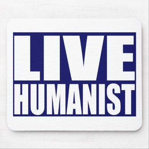 Humanista vivo alfombrilla de ratón