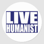Humanista vivo pegatinas redondas