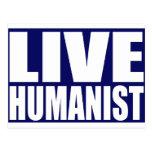 Humanista vivo tarjetas postales