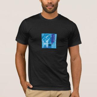 Humanitarian Blue Graffiti Shirt