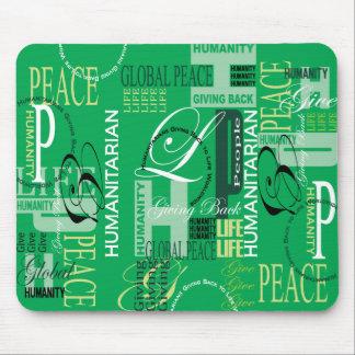 Humanitarian Green Graffiti Mouse Pad