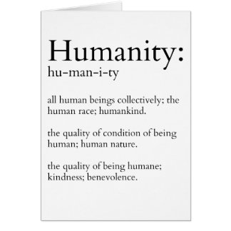 Humanity Defined Card