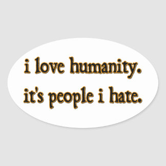 Humanity Oval Stickers