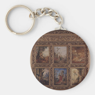 Humanity: The Golden Age depicting three scenes Keychain