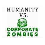 Humanity vs. Corporate Zombies Postcard