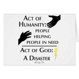 Humanity vs God Greeting Card