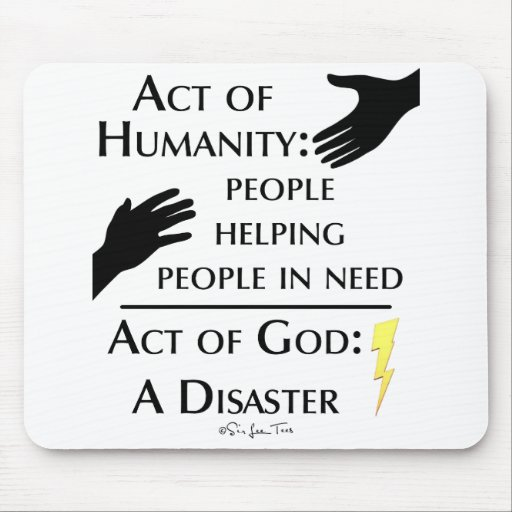 Humanity vs God Mousepad