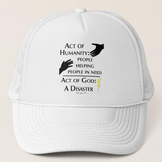 Humanity vs God Trucker Hat