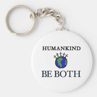 Humankind Basic Round Button Keychain