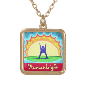 HumanLight Square Pendant Necklace