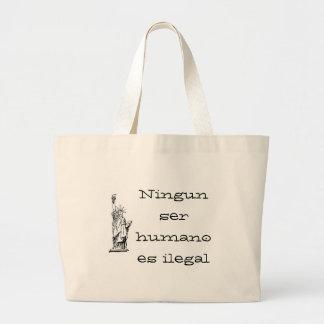 Humano es del ser de Ningun ilegal Bolsa De Mano