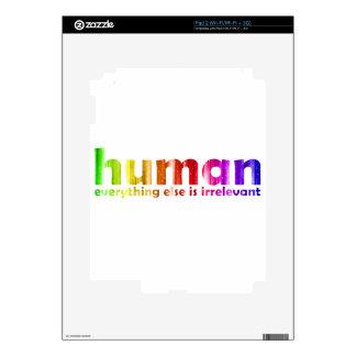 Humano - todo es inútil iPad 2 calcomanías