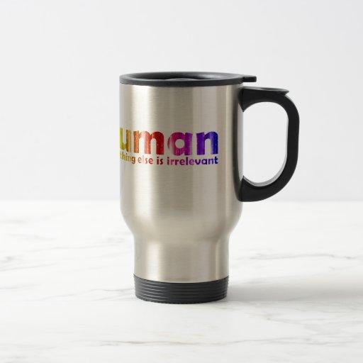 Humano - todo es inútil taza de café