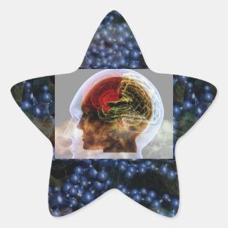 HUMANOID : Brain Brainy Science Biology Mind Star Sticker