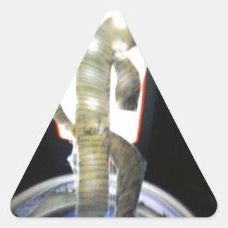 humanoid felino que vino con el transporte calcomanía triangulo personalizadas