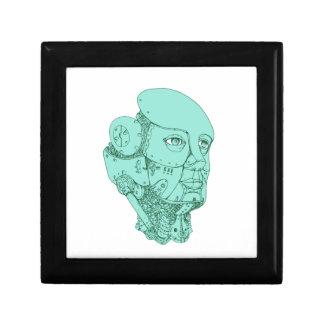 Humanoid Robot Head Female Monoline Gift Box