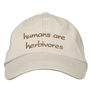 humans are herbivores embroidered baseball hat