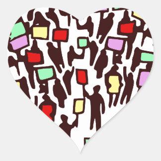 Humans demo people heart sticker