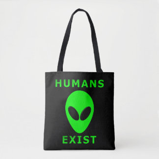 Humans Exist All-Over-Print Tote Bag