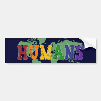 Humans (Gay) Bumper Sticker Car Bumper Sticker
