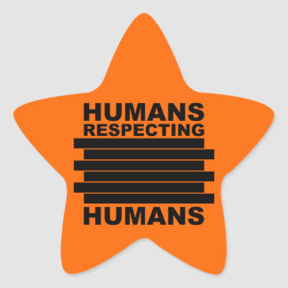 Humans Respecting Humans Star Stickers