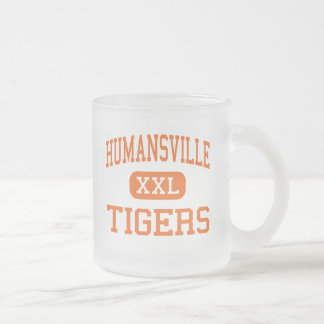 Humansville - Tigers - High - Humansville Missouri 10 Oz Frosted Glass Coffee Mug
