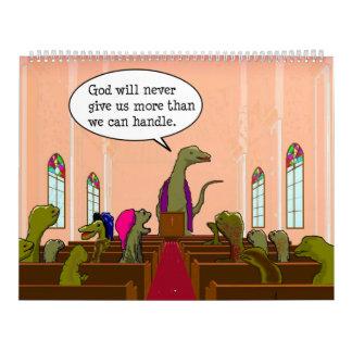 Humasaurus Dinosaur Cartoon Customizable 2017 Calendar