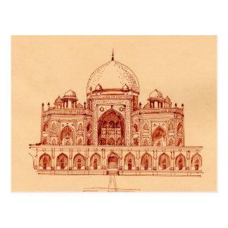 Humayun`s tomb postcard