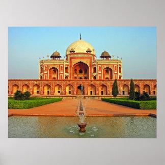 Humayun's Tomb and Garden, Delhi, India Poster