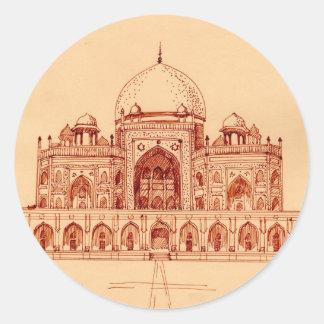 Humayun's Tomb Classic Round Sticker