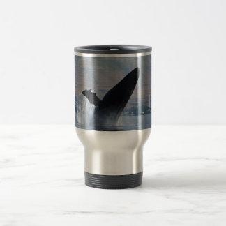 humback whale breaching travel mug