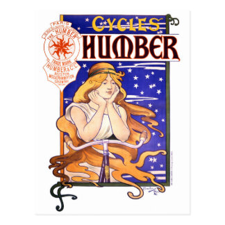 Humber Cycles 1890s Vintage Advertising Poster Postcard