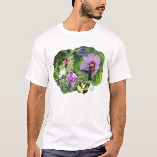 humbird_collage_w_monarch_zaz, logo_nose_teal2, t T-Shirt